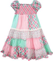 Mädchen Patchwork-Kleid mit Spitze