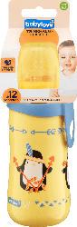 babylove Trinkhalmflasche mit flexiblem Trinkhalm aus Silikon ab 12 Monaten, 330ml, gelb