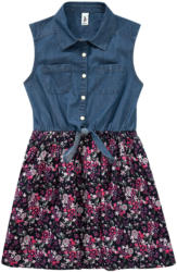 Mädchen Kleid mit Jeans-Bluse