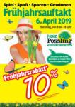 Holz Possling Frühjahrsrabatt! - bis 06.04.2019