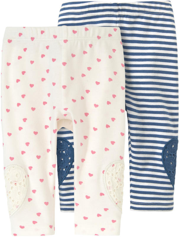 2 Newborn Leggings in verschiedenen Designs
