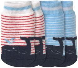 2 Paar Newborn Socken mit Frottee-Ausstattung