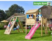 Klettergerüst Jungle : Cottage bridge grün jungle gym garten kinder holz spielgeräte