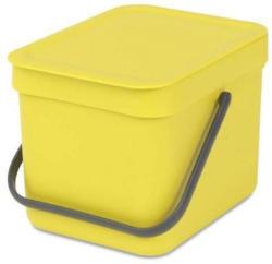 BRABANTIA Abfallbehälter Sort & Go, 6 L, gelb