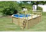 BayWa Bau- & Gartenmärkte Karibu Pool 1 Variante F inkl. Sonnenterrasse