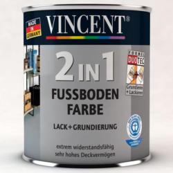 Vincent 2in1 Fussbodenfarbe nussbaum 2,5 L