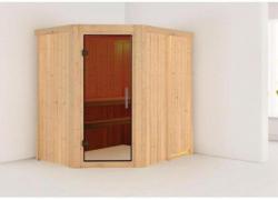 Karibu Carin Eckeinstieg, Tür graphit, ohne Kranz