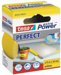 Tesa Extra Power Gewebeband gelb, 2,75m x 38mm