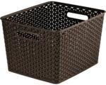 HELLWEG Baumarkt Aufbewahrungsbox My Style Korb L, dunkelbraun, 18 L