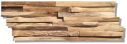 Indo Echtholz Wandverkleidung Teak Paneel, Natur, 10er-Set
