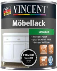 Vincent Möbellack teerschwarz, extramatt, 750 ml