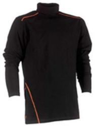 Rollkragen T-Shirt Lotis, langärmlig, schwarz, Gr. XXL
