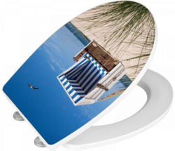 Wenko WC-Sitz mit Absenkautomatik Strandkorb