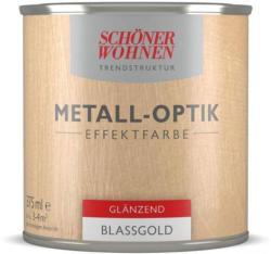 Schöner Wohnen Farbe Metall-Optik Effektfarbe, Blassgold glänzend, 375 ml