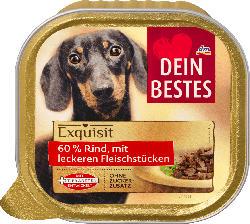 Dein Bestes Nassfutter für Hunde, Exquisit, mit 60% Rind