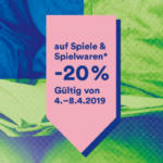 Thalia -20% auf Spiele und Spielwaren - bis 08.04.2019