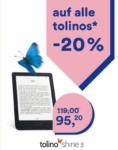 Thalia -20% auf alle tolino eReader* - bis 21.04.2019