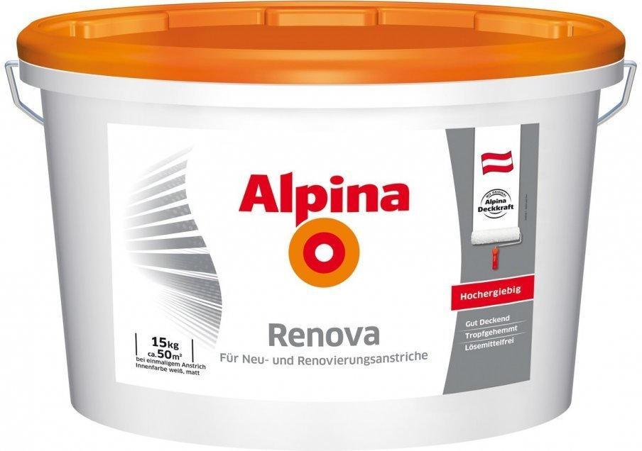 """wogibtswas.at - wand- und deckenfarbe alpina """"renova"""" € 17"""
