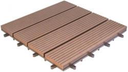 WPC-Terrassenfliese, 6-er Pack, mocca, ca. 30 x 30 x 2,5 cm