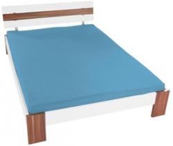 Jersey-Spannbetttuch 100 x 200 cm hellblau