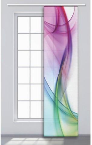 Schiebevorhang Batik Multicolor Ca 60 X 245 Cm