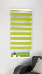 Doppelrollo-Easy-Fix, grün, ca. 80 x 160 cm