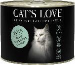 dm-drogerie markt CAT'S LOVE Nassfutter für Katzen, Adult, Pute Pur mit Lachsöl & Katzengamander