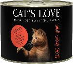 dm-drogerie markt CAT'S LOVE Nassfutter für Katzen, Adult, Rind Pur mit Distelöl & Löwenzahn