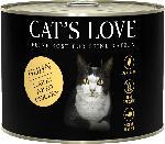 dm-drogerie markt CAT'S LOVE Nassfutter für Katzen, Adult, Huhn Pur mit Leinöl & Brennnessel