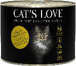 dm-drogerie markt CAT'S LOVE Nassfutter für Katzen, Adult, Kalb & Truthahn mit Katzenminze & Leinöl