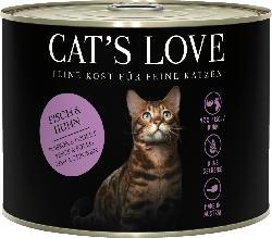 CAT'S LOVE Nassfutter für Katzen, Adult, Fisch & Huhn mit Petersilie & Lachsöl