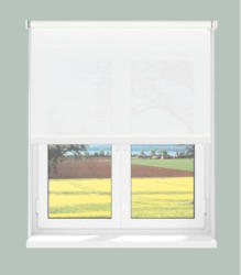 Rollo mit Seitenzug, lichtdurchlässig, weiß, ca. 82 x 200 cm
