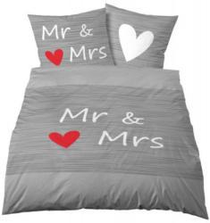 Microfaser Bettwäsche Mr. & Mrs. grau