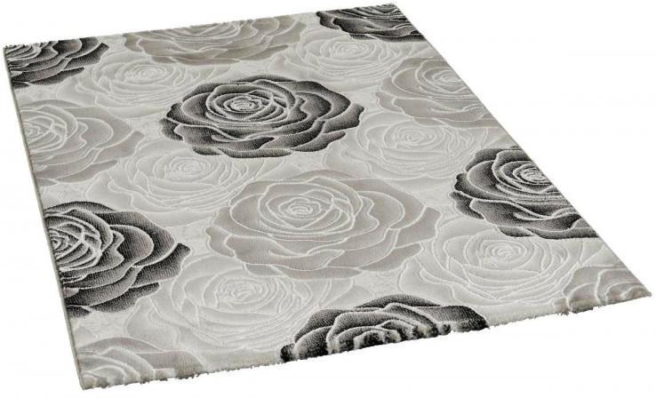 Teppich Saphir ca. 200 x 290 cm schwarz/grau