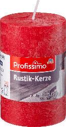 Profissimo Stumpenkerze Rustik rot 100/68