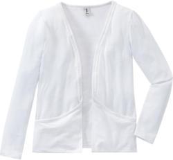 Mädchen Shirtjacke mit Pompom-Bordüre