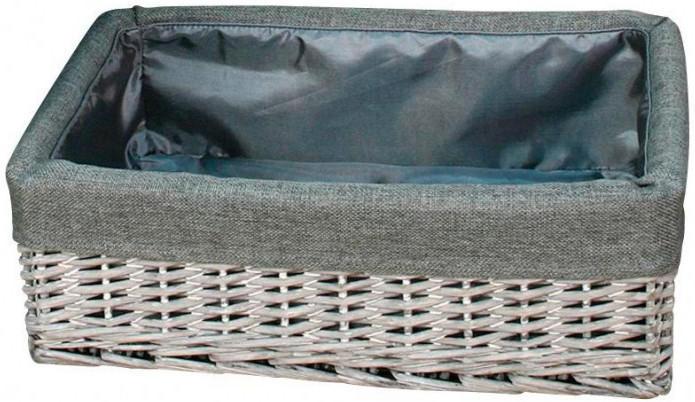 Aufbewahrungskorb grau, ca. 42x29x14 cm