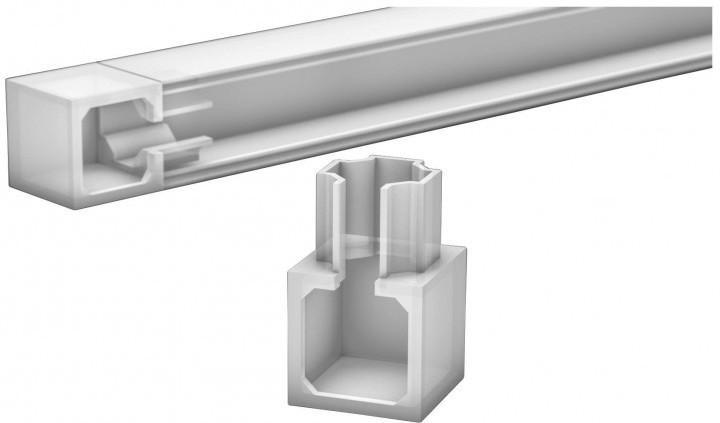 Endstück für LED-Kanal, Weiß, ca. 22 x 22 mm