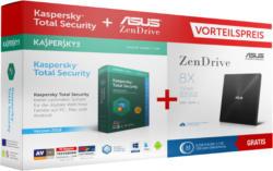 Externe Laufwerke - ASUS SDRW-08U7M-U + KASPERSKY TS 3U BUNDLE extern DVD Brenner