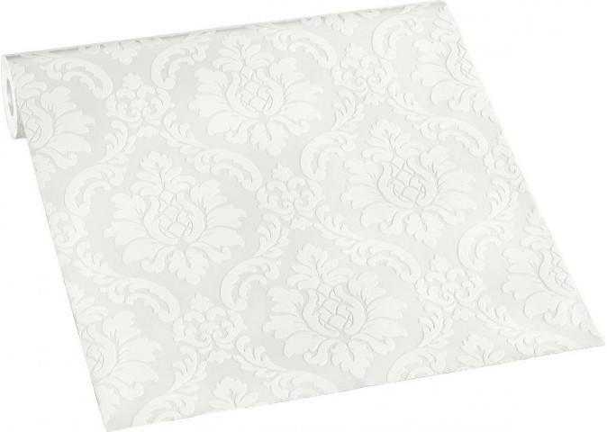 Vinyltapete Ornament weiß