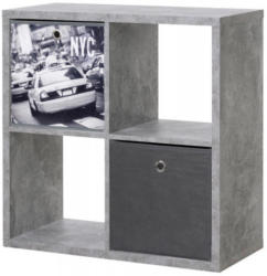 Raumteiler Max 4er Würfel Strukturbeton-Optik ca. 73 x 73 x 33 cm