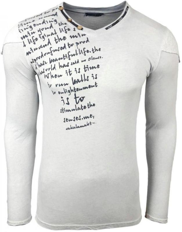 Rusty Neal Langarmshirt mit coolem Schulterbesatz