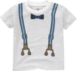 Baby T-Shirt mit Hosenträger-Print
