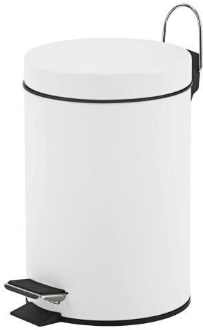 Treteimer 3 Liter Metall weiß