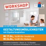 Würth-Hochenburger - Baustoffniederlassung Würth-Hochenburger Workshop 17.04. Innsbruck & 24.04. Hallein - bis 24.04.2019