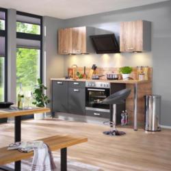 Einbauküche Küchenblock Möbelix Pn80/pn310 Graphitfarben