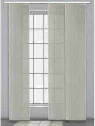 Schiebevorhang Uni 3er Set , silber, ca. 45 x 245 cm