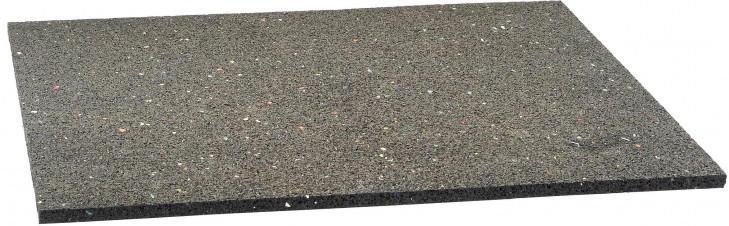 Gummi-Antivibrationsmatte schwarz 60 x 60 cm