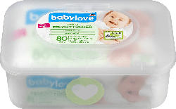 babylove Feuchttücher sensitive + Box