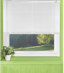 Jalousie, PVC, weiß, ca. 60 x 160 cm